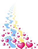 Footprints of Lovers