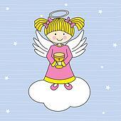 Angel on a cloud