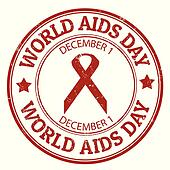 World Aids day stamp