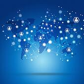 Net Connections Blue Biz Background