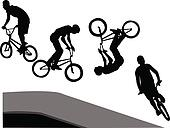 extreme cyclist - vector