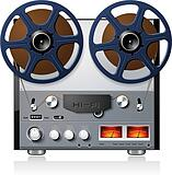 Stereo reel tape deck player analog