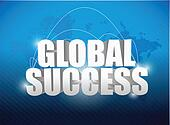 globe success world map concept