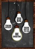 Think big , be creative
