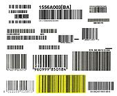 bunch of bar codes