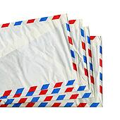 Postage letter envelope for airmail
