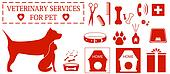 set isolated veterinary services