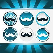 Movember Mustache Awareness Buttons