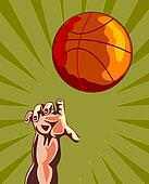 Basketball Hand Retro