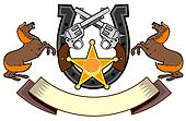 Colt 45 and Horseshoe Emblem