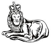 Lion Big Cat with Crown