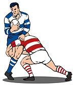 Rugby Player Tackled