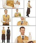 male waiter in a special form