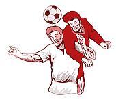 Soccer Player Header Bust