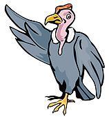 Cartoon Vulture Waving