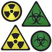Signs Radiation and biological hazard