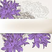 Beautiful floral background for design