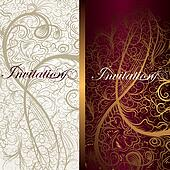 Beautiful floral invitation cards for design