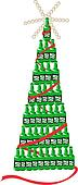 Beer Bottle Christmas Tree Retro