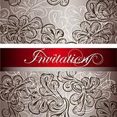 Elegant  invitation card for design
