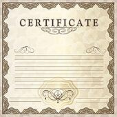 Vector gift certificate for design