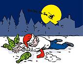 Christmas Scene Man Drunk Wasted