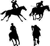 Equestrian Show Silhouette