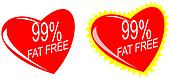 Heart with 99% Fat Free Sign