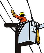 Power Lineman Cherry Picker
