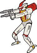 Robot Gun Shooting
