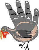 Turkey Hand Retro