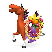 Cheerful Horse Carrying Ornament