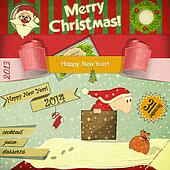 Old Christmas New Years postcard