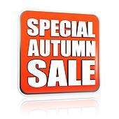 special autumn sale orange banner