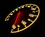 Glowing light automobile speedometer dial