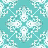 Vintage pattern with damask motifs
