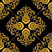 Ornamental pattern with damask motifs