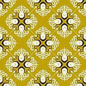 Ornamental vintage pattern with damask motifs