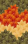 japan maple leaf seamless pattern