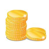 Gold Coins Clip Art - Royalty Free - GoGraph