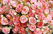 Pink Fabric Rose