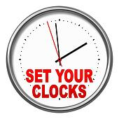 set your clocks