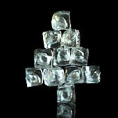 New Year Tree Shape Of Ice Cubes