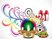 colorful diwali background
