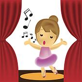 Girl Singing Clip Art - Royalty Free - GoGraph