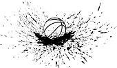 Basketball with Splatter