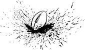 Football with Splatter