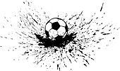 Soccer Ball with Splatter