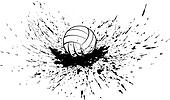 Volleyball with Splatter