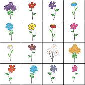 Squared Floral Set